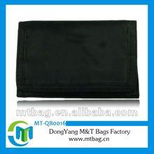 2012 fashion black nylon travel mens wallets