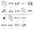 Diferentes tipos de liga de zinco / plástico puxadores para móveis de Handle knob fábrica