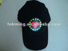 LED cap/ el wire hat/ racing caps el