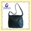 new arrival fashion punk leather shoulder bag with metal rivet decoration