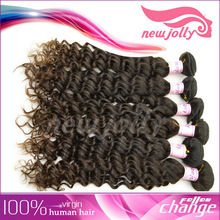 Top quality beautiful goddess jerry curl hair/Brazilian deep curly hair wefts