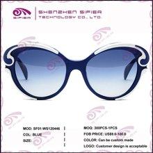 Vogue Blue Acetate Retro Sunglasses Fashion 2012