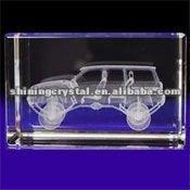 New arrival Lifelike 3D laser engraving Crystal Jeep Grand Cherokee Car