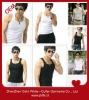 Plain gray/white/black sleeveless slim fit tank/vest tops for men