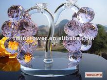 Elegante de cristal uvas de cristal conjunto de presente de casamento