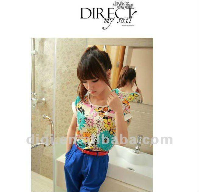 los modelos de blusas de gasa en 2013 nuevo de la moda para las señoras