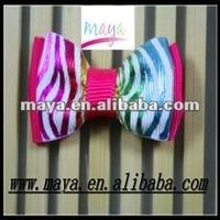 Lovely stripe grosgrain bow hair clips online