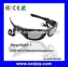 Summer gift ! Polarized Lens UV400 pinhole camera sunglasses 2012 with MP3 MV300