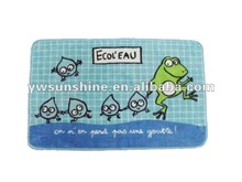 ultra soft microfiber print baby bath mat,kitchen rug,frog bath mat