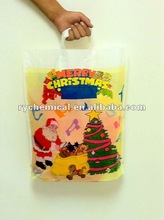 LDPE soft loop handle bag with advertising shopping gift packing