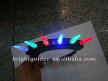 Flashing Fiber Optic Mohawk Head