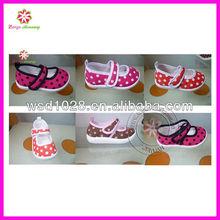 Polka dot girl dance shoes ballet shoes