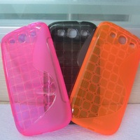 Hot colorful S line soft TPU case for galaxy s3 phone case
