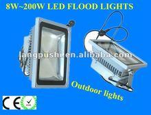 2012 hot sales Manufacturer 130lm/W bridgelux chips 8~200W IP65 DIM/RGB/CCD 3years warranty led flood light shenzhen