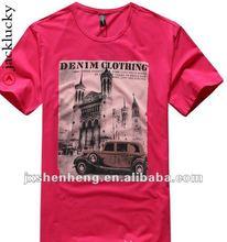 100% cotton plain v neck t shirts for wholesale men clothing