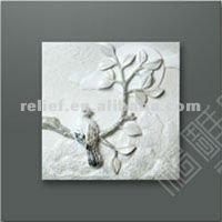 3D wall art birds relief oil painting