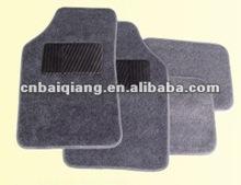 black leather on carpet car mats