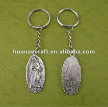 Our lady of Guadalupe Key Chain Kirsite cross pendant ,good sale nice pendant for necklace