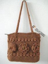 Cute polyester crochet bag for women