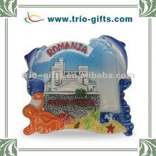 touristic souvenir ceramic fridge magnet