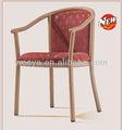 Braccioin alluminio sedia di legnoimitazione per camera di albergo o soggiorno( yw5503)