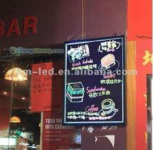 Piatti elenco ristorante portato bordo di scrittura/illuminato messaggio portato scrittura bordo