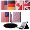 National Flag leather case for new iPad 3 iPad2 standing design different patterns
