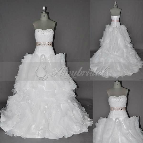 AM537 Pink Belt Crystal Beaded Wedding Dress Turkish View wedding