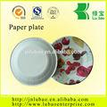 plato de papel con impresión de la flor
