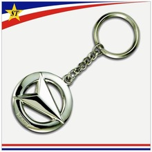 Promotional custom metal cheap car logo brand keychain