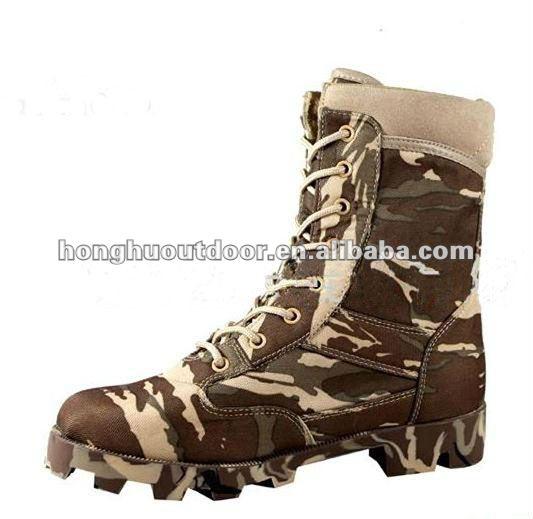 Ejército barato del desierto de camuflaje militar botas para hombre