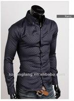 2012 New Mens Casual Slim fit Dress Shirt 4 size 3 Colors FF0760