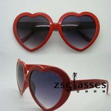 Cheap custom designer heart shaped sunglasses/party sunglasses