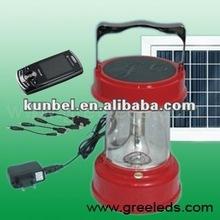 Cranking powered solar led lantern