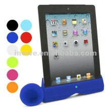 for ipad 3 acoustic amplifier silicone stand for ipad3