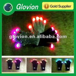 Fashionable Light up gloves for party new LED flashing gloves led finger light gloves
