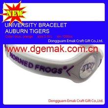 2012 global hot sale free Ion Kinetic energy bracelet- TCU-HORNED FROGS
