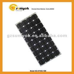 Guangzhou direct manufacturer mono solar pv panel 85W