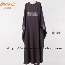 2012 Women black color sequins beaded dubai bat sleeve abaya