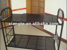 manufacturer cheap school furniture black iron bed/ steel bunk bed