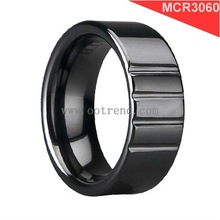 New arrival class wide ceramic band for man ,cheap unique ceramic ring of 2012 fashion