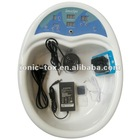 ion detox foot spa device with wrist strip and tens massage patches