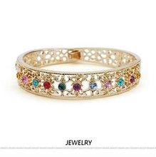 (b081307)High quality crystal indian bangles