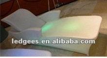 Night club/bath house led lounge chair modern with RGB color