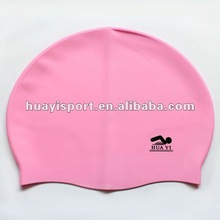 Silicone customized ladies swim caps