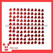 red heart shape gem sticker for mobile