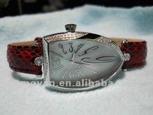 women's watch mop dial genuine leather strap