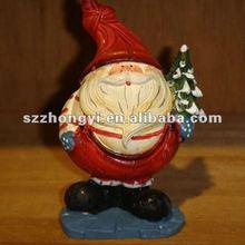 fat resin Santa Claus figurines/santa claus statue small ornaments