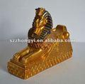 Egípcio estátua esfinge/resina esfinge/esfinge escultura