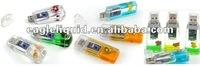 plastic fluid floater inside white usb2.0 liquid usb flash drive